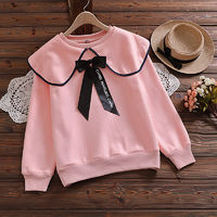 The new college style female plus velvet thick casual all-match top, sweet and cute doll collar blouse