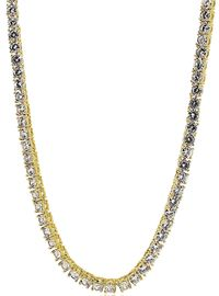 Gold Plated Round Pharaoh Chain with Bling (1 Row) (6mm) £30.90
