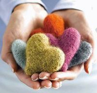 Felted Heart Milagros