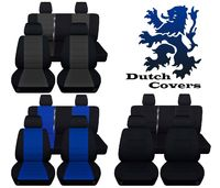 Fits 2013 to 2018 Jeep Wrangler JK 4 Door Front and Rear Seat Covers Airbag Friendly Eight Color Choices $169.99