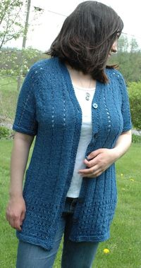 e8678842e773 ABC Knitting Patterns - Denim Eyelet Cardigan