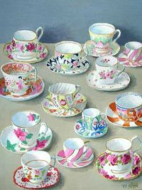 When my youngest child is four and or capable of understanding the words 'don't touch', I am going to start a china tea cups collection and have them on display in a hutch with glass doors.