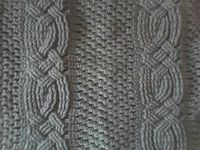 Example of aran cables in crocheting