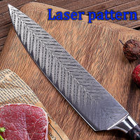 Chef Knife 8 inch Professional Kitchen Knives Stainless Steel Cooking Tools Pakka Wood Handle $58.30