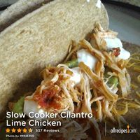 Slow Cooker Cilantro Lime Chicken | See how to make simple Mexican-inspired chicken in the slow cooker. Flavored with taco seasoning, prepared salsa, lime juice, and chopped fresh cilantro, the chicken slowly simmers until wonderfully tender.
