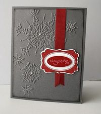 Textured Impressions Embossing Folder, Northern Flurries, Stampin' Up!