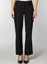 Dorothy Perkins Womens Black Bootcut trousers- Black DP66552301 This black bootcut trousers are perfect for the office, with button belt loops and subtle stitching detail these trousers would look great with a smart shirt or blouse.100% Polyester. Mac...