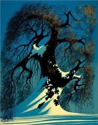 """Winter Bonsai,"" Eyvind Earle."