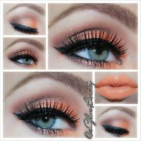 Coral make up on green or blue eyes! So gorgeous! If any of my blue/green eyed poster friends do this- I wanna see! :)