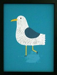 print & pattern blog: seagull by Dan Walters of See Creatures Studio