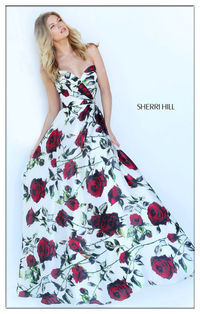 Sherri Hill 50826 Hot Sale Floral Formal Gown For Prom