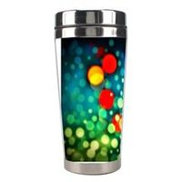 Carry your coffee around in style! Now you can personalize this tumbler with your favorite photos and images. The customizable insulated travel tumbler comes with a non-spill lid, holds up to 450 ml and is made of plastic exterior and stainless steel inte...