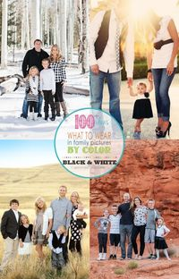 Family Picture Clothes by Color-Black and White
