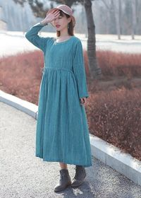 Cotton midi dress Women's Linen & Cotton dress Pink dress Dresses for woman Soft linen dress Summer dress Plus size linen dress Scoop dress