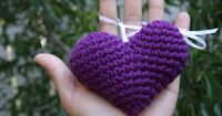 Puffy heart crochet pattern