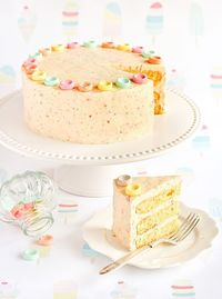 Best Friends for Frosting-orange cake with fruit tingles frosting