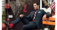 In your father's day, tweed suits were thicker than carpeting and itchier than straw, and no one was happy. Those sad days are over. Actor James Marsden walks t