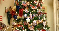 PATRIOTIC DECORATIONS FOR YOUR JULY 4TH PARTY OR ANY AMERICAN HOLIDAY! PATRIOTIC ORNAMENTS FOR YOUR TINSEL OR FEATHER TREE! PERFECT INDEPENDENCE DAY AND USA THEMED UNCLE SAMS, MISS LIBERTY AND PATRIOTIC DECORATIONS FOR THE MOST PATRIOTIC PARTY AND HOME DE...