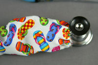 Stethoscope cover Summer | Beach Fabric stethoscope Cord cover flip flops | Nurse Doctor Gift | Stethoscope Sock | Scrub Accessories $10.99
