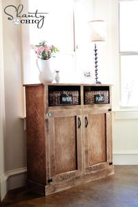 This would be great in the dining room or at the end of the upstairs hallway - by Ana White   Build a Shanty Open Shelf Console   Free and Easy DIY Project and Furniture Plans