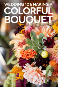 How To: Make A Bright Colorful Wedding Bouquet