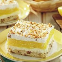 Nothing says springtime like the sweet, tart taste of lemons, and the cool finish of whipped cream. These Luscious Lemon Delights from Grandma's Kitchen have al