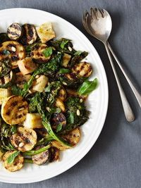 Grilled Bread Salad with Broccoli Rabe and Summer Squash on Food52