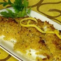 Panko Crusted Baked Flounder (have also used on chicken). Perfect quick and easy weeknight meal to make with fozen fish