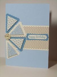 How fun - this reminds me of a pinwheel! You could make this birthday card for a summer birthday.
