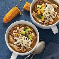 White Lightning Chicken Chili | White Lightning Chicken Chili gets its name because it only takes 30 minutes from start to finish to get this one-dish meal to the table. | SouthernLiving.com