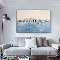 Modern art abstract paintings on canvas Original sky blue acrylic heavy texture huge size Wall Pictures hand painted Home caudros quadro $89.00