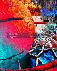 Unique basketball art print @etsy on takumipark. Basketball artwork is a photo print. #basketballart #sportsart #streetart #urbanart #basketball