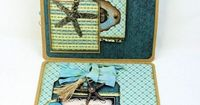 Vintage Beach Babe Folio with Graphic 45 Off to the Races 12x12 Patterns and Solids by Kathy Clement for Frilly and Funkie Something Old Challenge Photo 3