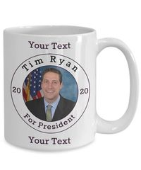 Tim Ryan Democrat Candidate For President 2020 White Ceramic Coffee Mug | Elections $17.95