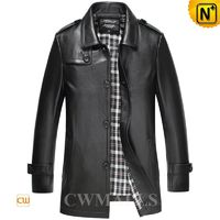 Custom made Men Leather Trench Coat CW816024 | CWMALLS.COM