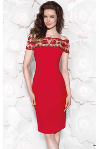 New Arrival Satin Sheath Knee-length Cap Sleeves Party Dresses