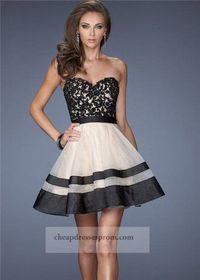 Short Nude Black Jeweled Homecoming Dress 2014