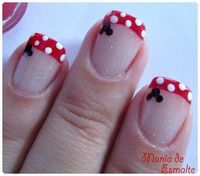 Minnie nails for Disney in march!