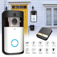 Wireless 1080P Video Doorbell Camera Battery Support PIR Detect Night Vision with DingDong - Video Doorbell+DingDong