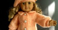 BEGINNER level Knitting pattern for American Girl 18 inch doll with VIDEO clips (33). $2.99, via Etsy.