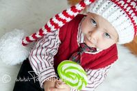 Hand Crochet Christmas Elf Hat or Santa Hat in Red and White for Toddler on Etsy, $23.00