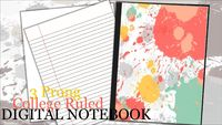 Digital Student Notebook  Distance Learning   Daily Writing Journal - Color Splash $1.97