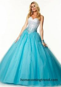 Beaded Multi Colore Strapless Ball Gown Prom Dresses 2015