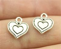 Pack of 20 Dotted Heart Charms. Different Colours. Love Pendants. Valentine's Day Gift. 11mm x 13mm £5.99