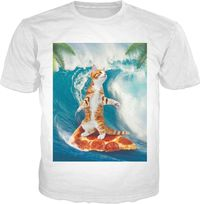 Surf Cat Classic T-Shirt $19.95