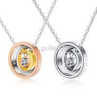 Gullei.com Promise Rings Necklaces for Lovers Set of 2