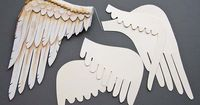 Draw a bird's wing, brake it down into four levels of feathers, and make cardboard templates for tracing onto the foam. The craft foam is very easy to work with, and take colour from pencil crayons and paint beautifully. cut a strip of felt with sca...