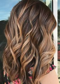 A perfectly executed balayage to give this client caramel, sunkissed highlights. Color by