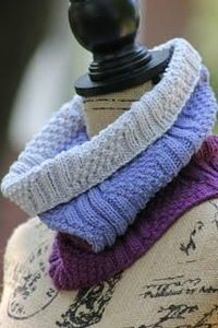 The Lilac Dream Knit Cowl will quickly become one of your favorite free knitting patterns. This gorgeous knit cowl pattern in composed of several different type