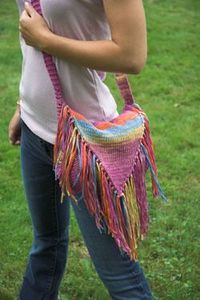 Plymouth Cottonation Fringed Purse Knitting Pattern 2653 This would be cute for my niece, & I think I would like it in cream�€�..